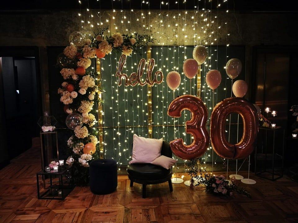 Una festa glamour per i 30 anni