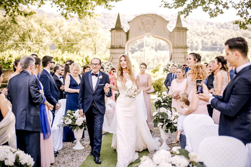 Un matrimonio luxury a Villa Bria