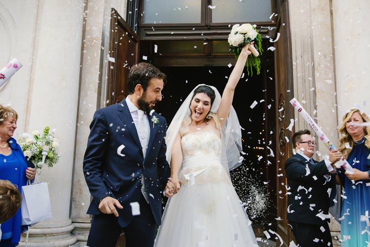 Un matrimonio oro e bianco a Villa Bria